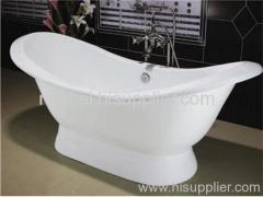 pedestal double slipper tub
