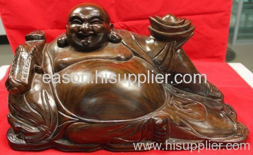 Buddha statue wood carving