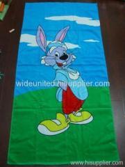 reactive printed beach towel item
