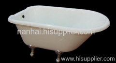 roll top in one side cast iron bathtub
