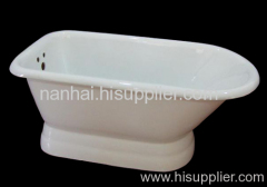 cast iron ended pedestal bathtub