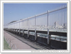 plastic coated wire fence