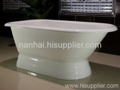 pedestal slipper bath