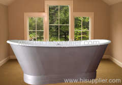 tub with stainless steel skirt