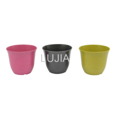 Colorful plastic flower pot