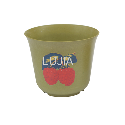 Biodegradable natural plant fiber flower pot