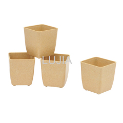 Square Plant Fiber Flower Pot