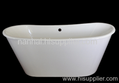 cast iron enamel skirt bath