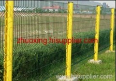 blue welded wire mesh fence