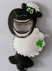 soft PVC sheep bottle opener