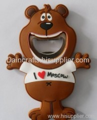soft PVC bear shaped opener/ wine bottle opener/ beer bottle opener