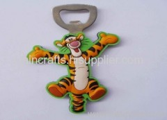 soft PVC tiger bottle opener/ wine opener/ beer bottle opener