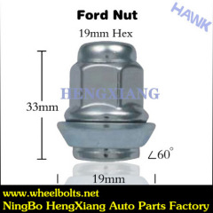 Chrome wheel locking lug nuts