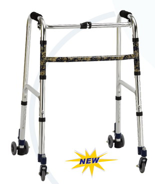 Luxurious folding walker