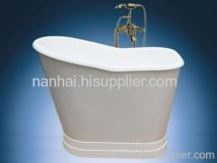 Cast iron bathtub with apron