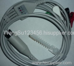 One Piece ECG Cable with 5 Leads