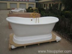 comfortable pedestal cast iron bathtub