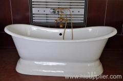 large pedestal bathtub