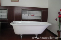 cast iron bathtub with roll top
