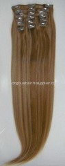 clips in hair extension remy human hair weft