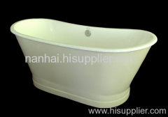 cast iron bathtub with iron sheeting