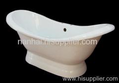 modern pedestal freestanding bath