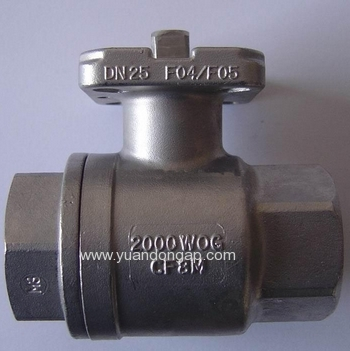 2PC Ball Valve With Mounting