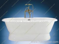 cast iron enameled bath tub