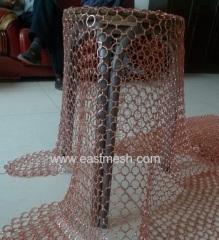 Brass ring netting