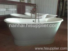 Stainless steel apron bathtub