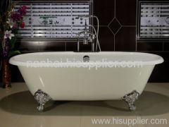 enamel cast-iron bathtub