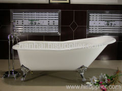 enameled cast iron slipper bathtub