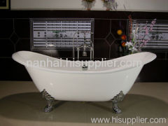 double slipper cast-iron bath tub
