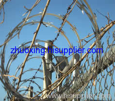 stainless steel razor barbed wire fence