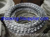 PVC razor barbed wire fence