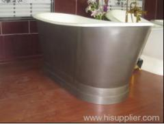 1700 stainless steel apron bathtub