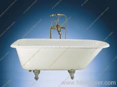 Single ended cast iron bathtub