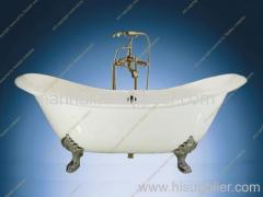 Double Slipper Cast Iron Tub with clawfoot