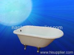 single ended cast iron enameled bathtub
