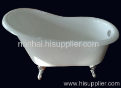 high-back slipper bathtub