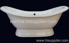 slipper pedestal tub