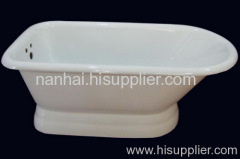 single slipper pedestal tub