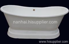 pedestal iron bath