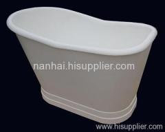 skirted iron bath
