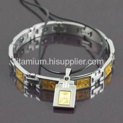 Titanium Bracelet , Power Magnetic Titanium Bracelet