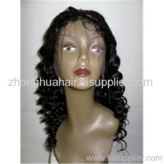 100% Mongolia hair full lace wigs