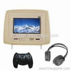 7 Inch Car Headrest DVD Player with Wireless Games and TV