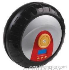 Portable mini in-car air compressor for car, motorcycle, airbed