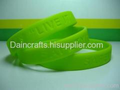 silicone glow in dark wristband/ silicone bracelet