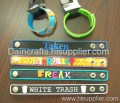soft PVC wristband/ silicone bracelet